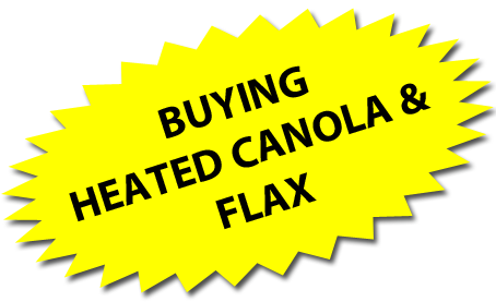 Westcan Grain and Feed Buys Heated Canola and Flax!